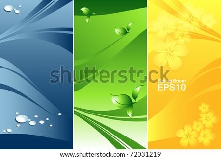 abstract vector nature banners set . Eps10