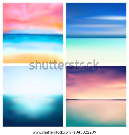 abstract vector nature blurred