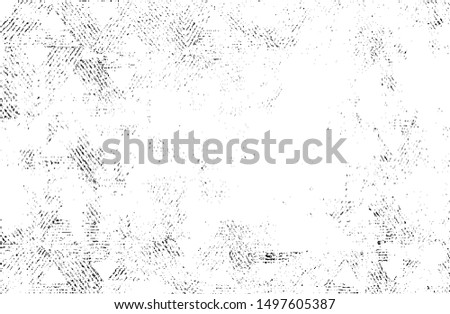 Abstract vector noise. Small particles of debris and dust. Distressed uneven background. Grunge texture overlay with fine grains isolated on white background. Vector illustration. EPS10