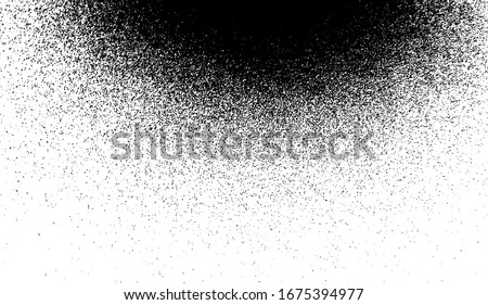 Abstract vector noise vanishing. Subtle grunge texture overlay with fine particles isolated on a white background. EPS10.
