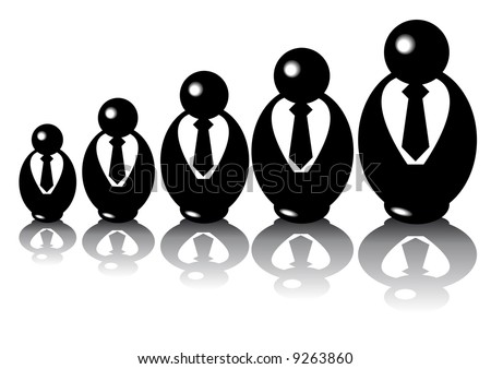 Abstract vector of babuschka businesspuppets
