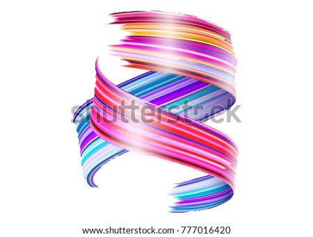 abstract vector paint brush