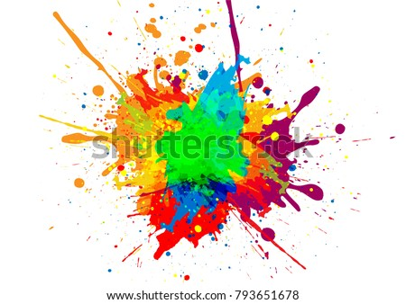 abstract vector paint color