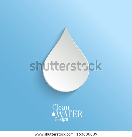 abstract  vector paper water