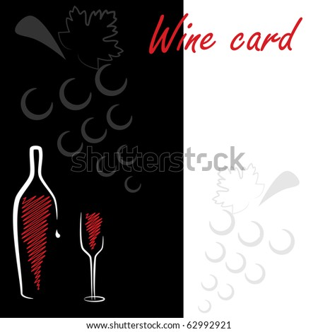 Abstract vector pattern for wine card