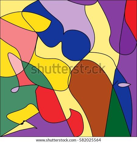abstract vector picture of a