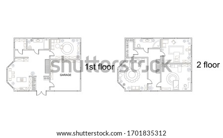 abstract vector plan of two