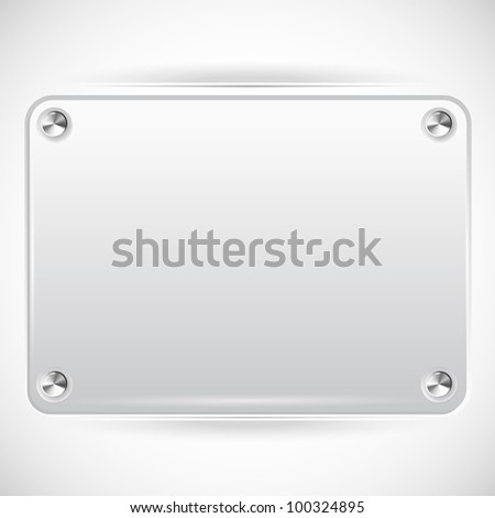 Abstract Vector Plastic Plate on White Background - EPS10
