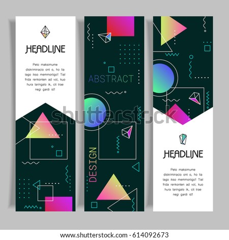 Abstract vector polygonal design banners templates #614092673
