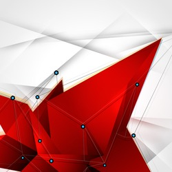 Abstract vector polygonal geometry shape background. Eps10
