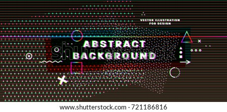 abstract vector poster with 3d