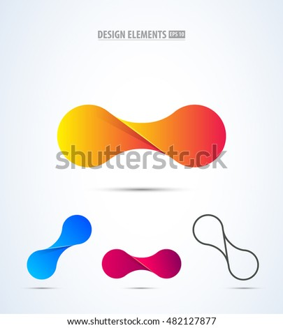 Abstract vector propeller logo icon. Airport logo