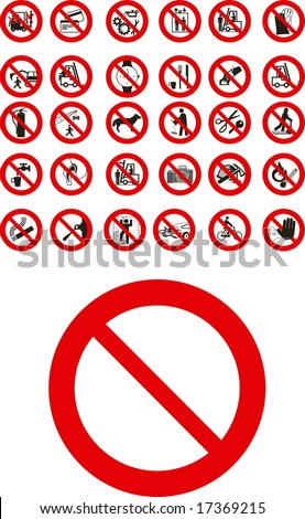 Abstract vector public  prohibited signs