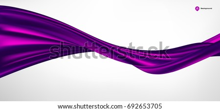 Abstract vector purple wave silk or satin fabric on white background for grand opening ceremony or other occasion