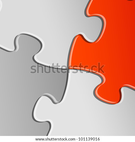 Abstract vector puzzle / solution background detail