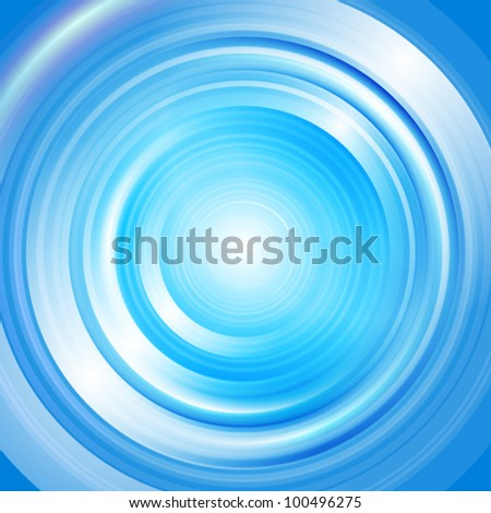 Abstract vector radial blue background with glow effect