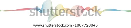 abstract vector rainbow wave melody lines on white background Stock photo ©