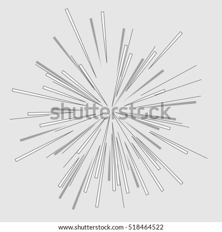 abstract vector rays on white