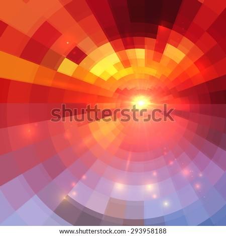 abstract vector red circle