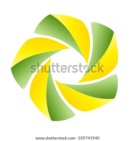 Abstract vector round spiral sign