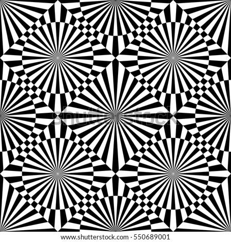 abstract vector seamless op art