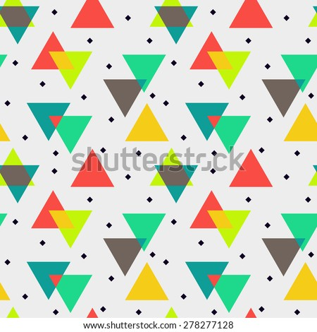 Abstract vector seamless pattern, geometric