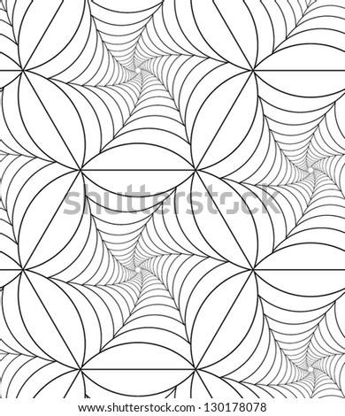 Abstract vector seamless pattern with net-like figures