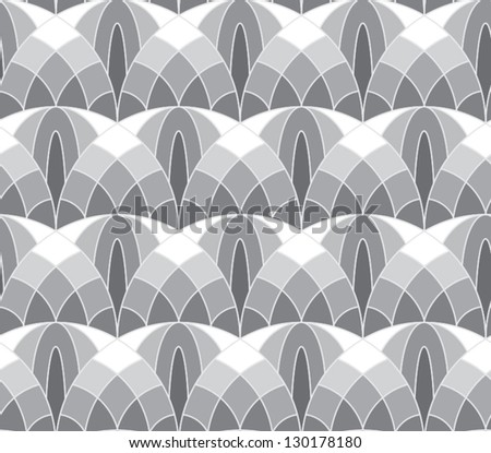 Abstract vector seamless tale-like pattern