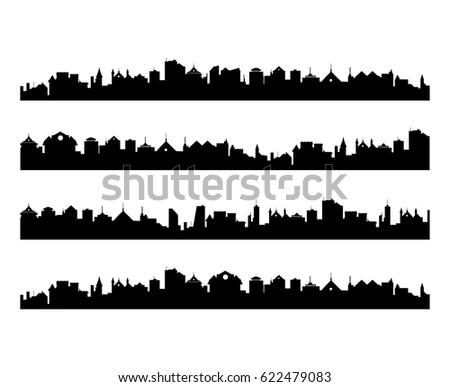 abstract vector set of city