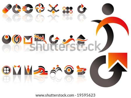 Abstract vector set of design elements - stock vector