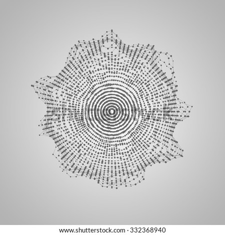 abstract vector shape of