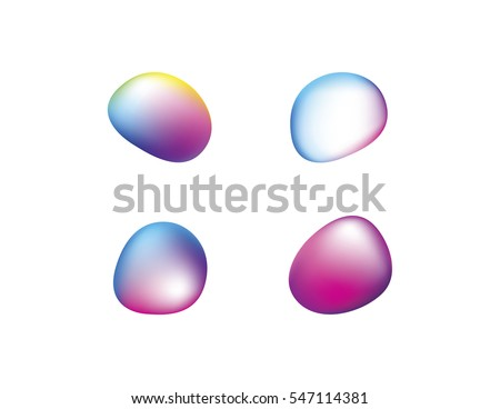 abstract vector shapes in a set