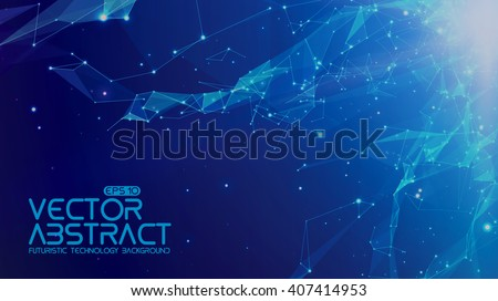 abstract vector space blue