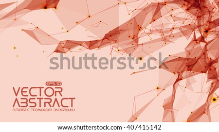 abstract vector space light red