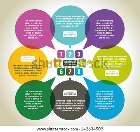 Abstract vector speech bubble. Modern Design Infographic Banner