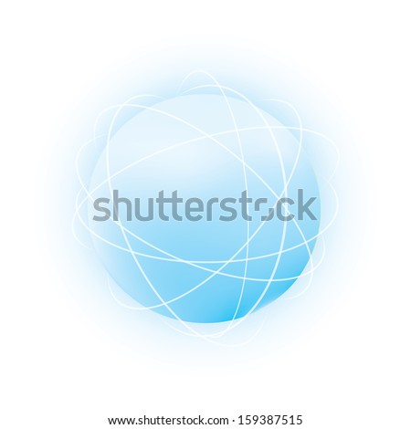 Abstract vector sphere.
