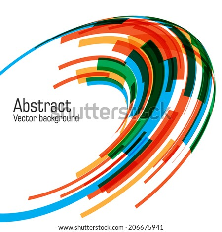 Abstract vector spiral background. EPS 10.