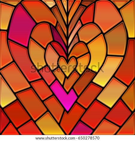abstract vector stained glass
