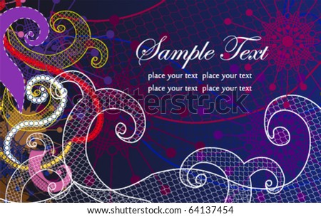 Abstract vector stylized background