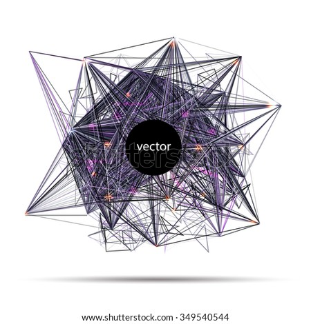 abstract vector techno science