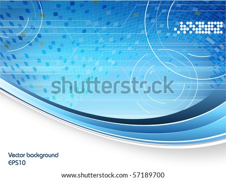 abstract vector technology background with copy space. Eps10 - stock vector
