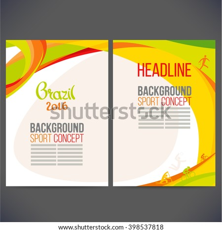 abstract vector template design