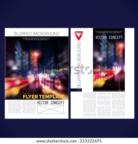 abstract vector template design