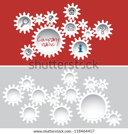 abstract vector template with gears