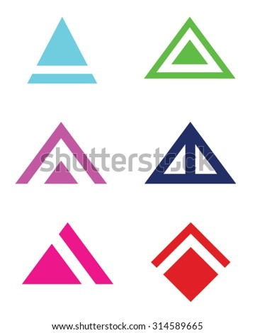 Abstract Vector Triangle and Arrowhead Set