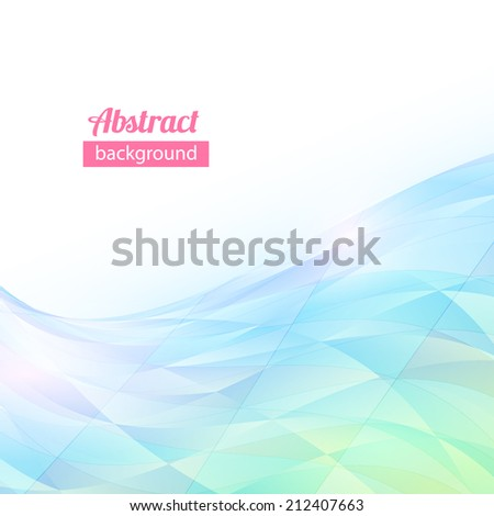 abstract vector triangle flow