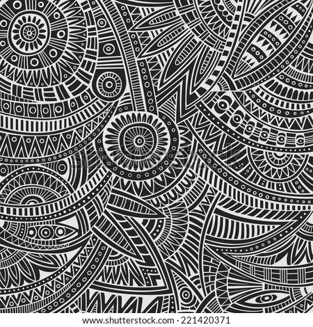 Abstract vector tribal ethnic background pattern - Shutterstock ID 221420371