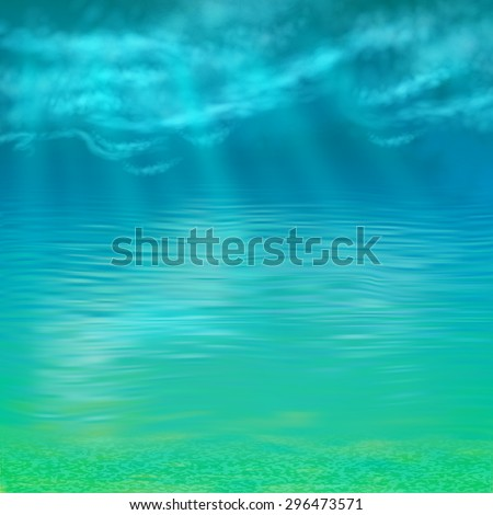 abstract vector under water