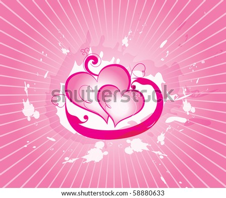 abstract vector valentine