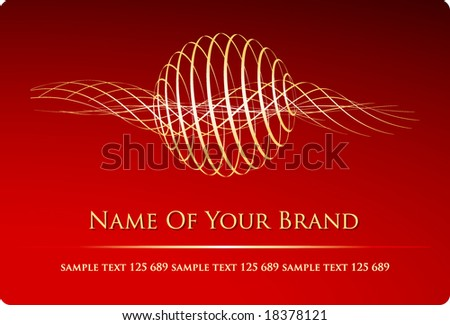 abstract vector visit card with original sign for various businesses